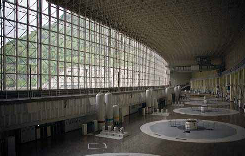 Sayano-Shushenskaya main turbine hall, before disaster