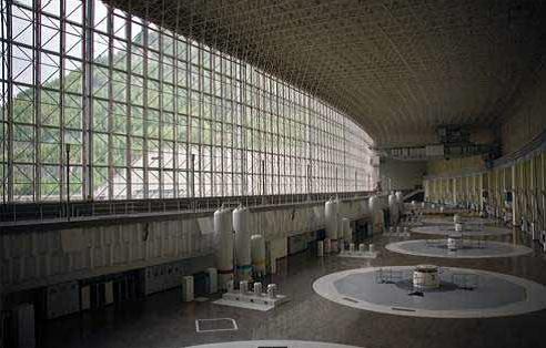Sayano-Shushenskaya main turbine hall, before disaster