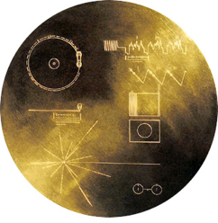 Copper Disc on Voyager