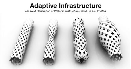 4-D Printed Water Pipes