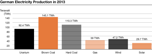 German Electricity Production in 2013