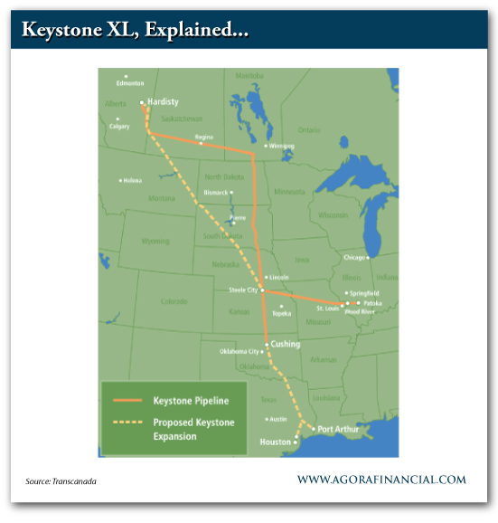 Map of the Keystone Pipeline and Proposed Keystone Expansion