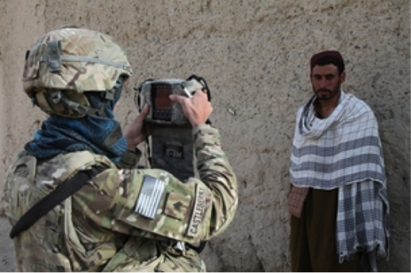 Soldier Taking Photograph
