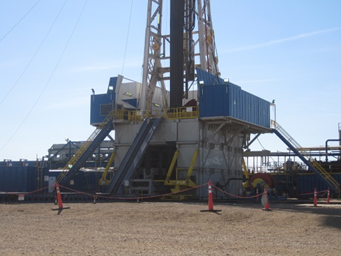 Drill Rig in the North Dakota Bakken