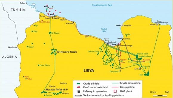 Libyan Oil Map