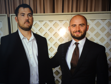 Josh Grasmick with Marcus Luttrell