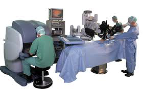 A Surgeon Using Intuitive Surgical's da Vinci Robotic Surgery System