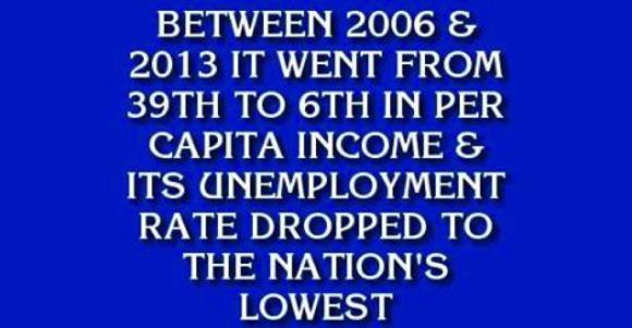 Jeopardy Answer - North Dakota