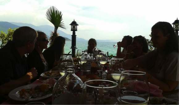 Dinner at Lake Ohrid