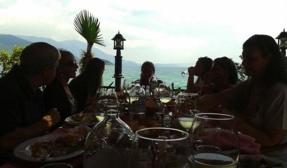 Dinner at Lake Ohrid