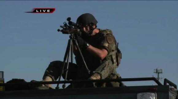 Mounted Gun in Ferguson, Missouri