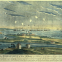 A Painting of the Bombardment of Fort McHenry