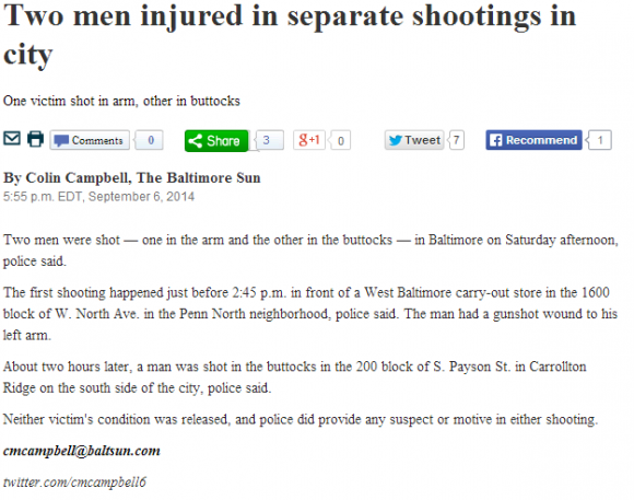 """Google News Search of """"Baltimore"""""""