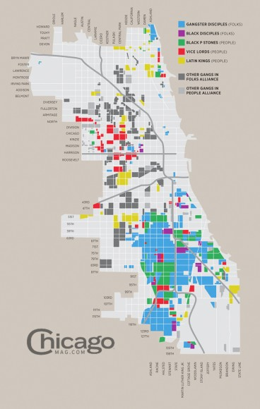 Gang Turf Map of Chicago