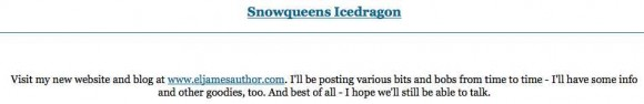 Proof that Snowqueens Icedragon is Really E. L. James