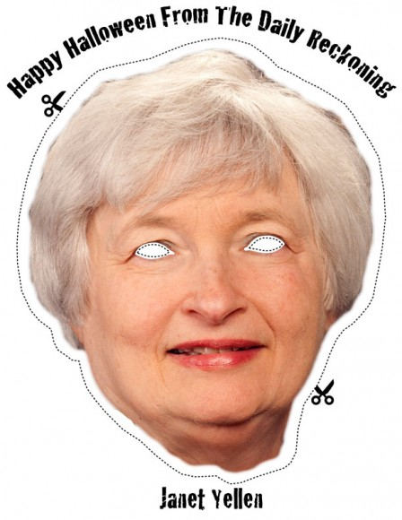 Janet Yellen Halloween Mask