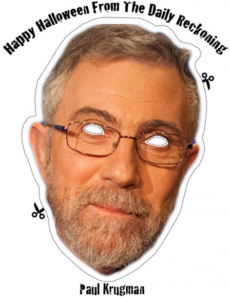 Paul Krugman Halloween Mask