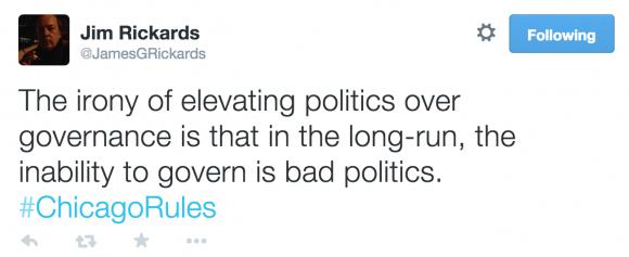Jim Rickards Tweet #ChicagoRules