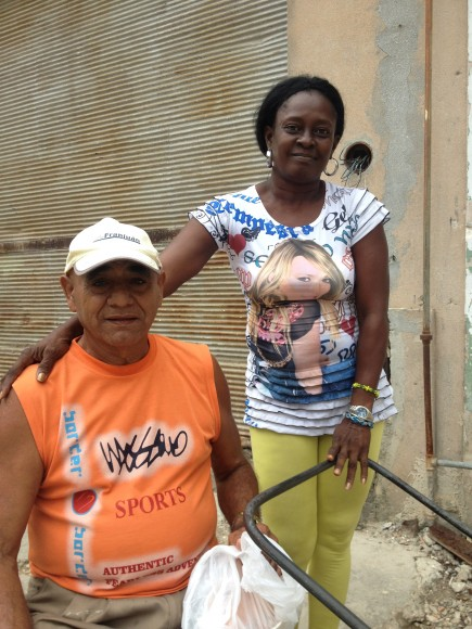 Jamie and Juana - Two Owners of a Homemade Chocolate and Nut Cart in Old Havana