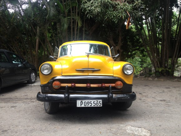 An Old Chevy - Used as a Taxi - Just Outside Ernest Hemingway's House in Havana, Cuba