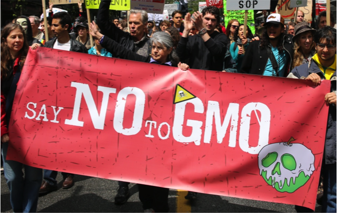 Say No to GMO protest poster