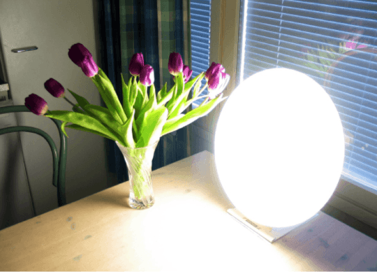 A bright used for seasonal affective disorder