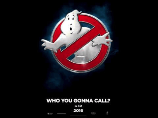 GhostBusters Movie Flier