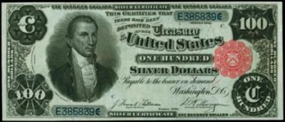 U.S $100 Silver Certificate