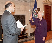 Janet Yellen Swearing In