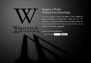 Wikipedia Blackout Notice