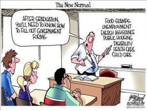 Youth Unemployment Cartoon