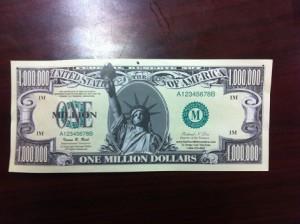 Fake $1,000,000 Bill