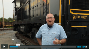 Byron King in Hagerstown Train Yard