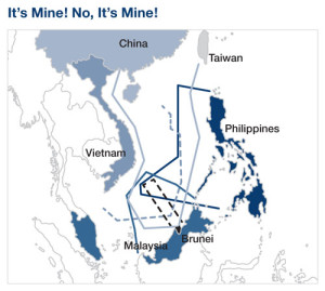Competing Territorial Claims of China, the Philippines, Vietnam, Malaysia and Brunei
