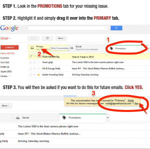 gmail whitelist directions (RUDE)