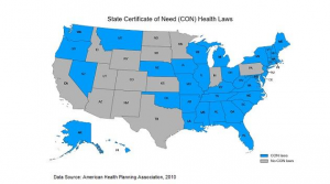 State Certificate of Need (CON) Health Laws