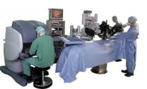 A Surgeon Using Intuitive Surgical's da Vinci Robotic Surgery System