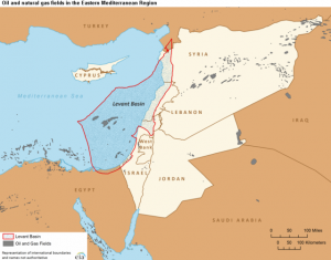 Oil and Natural Gas Fields in the Eastern Mediterranean