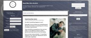 "Dead Man Zero's Website in the ""Deep Web"""