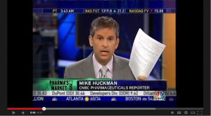 Mike Huckman, Pharmaceutical Reporter for CNBC, Shilling for AstraZeneca