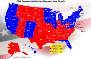 2012 Presidential Election Electoral Vote Results Map