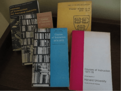 Harvard course catalogs