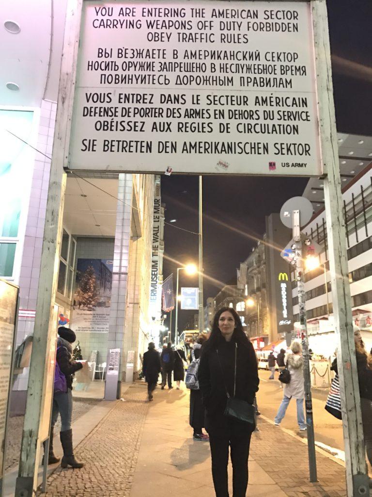 Nomi Prins at Checkpoint Charlie