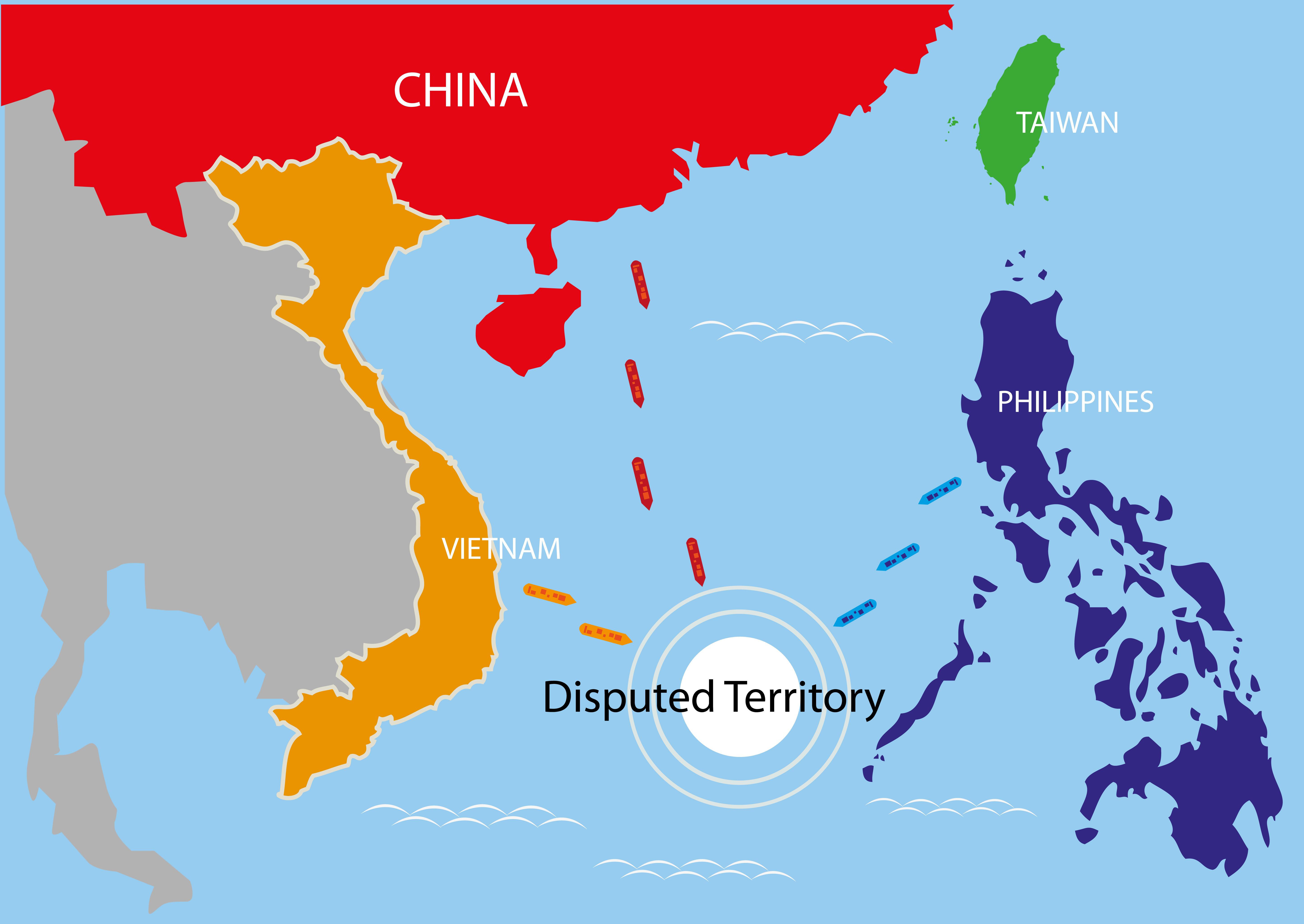 south china sea war with China
