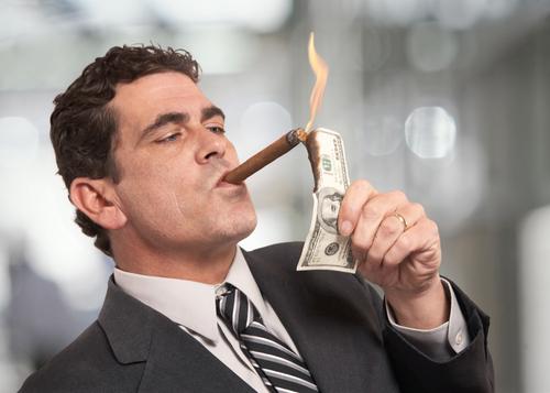 Reicher mit Geld