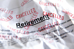 cancelled retirement